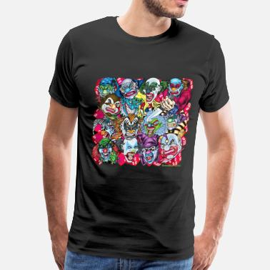 All Over Print Evil Clowns All Over - Men's Premium T-Shirt