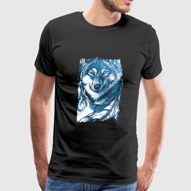 Wolf Indian Native American Animal Gift - Men's Premium T-Shirt