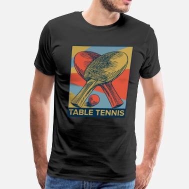 Cardboard Ping Pong Table Tennis Player Sports Ball Gift - Men's Premium T-Shirt