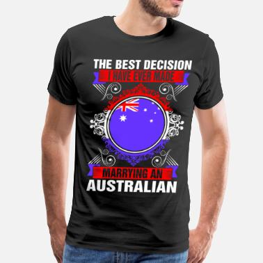 Australian Patriotism Marrying An Australian - Men's Premium T-Shirt