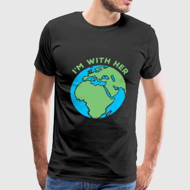 Save Earth Save Nature Planet World Earth Day - Men's Premium T-Shirt
