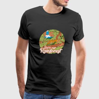 Rainforest Save Earth Day Jungle Nature Vintag - Men's Premium T-Shirt