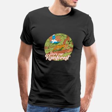 Save The World Rainforest Save Earth Day Jungle Nature Vintag - Men's Premium T-Shirt