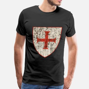 Knights Templar Templar Cross, Old - Men's Premium T-Shirt