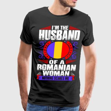 Romanian Love Im Romanian Woman Husband - Men's Premium T-Shirt