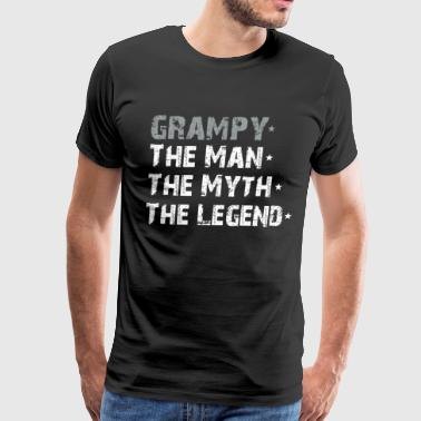 Grampy The Man The Myth The Legend Father's Day - Men's Premium T-Shirt