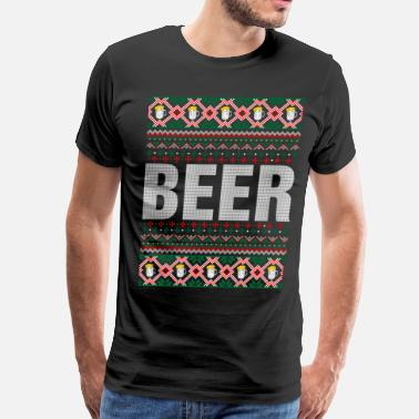 Beer Ugly Beer Ugly Christmas Sweater - Men's Premium T-Shirt