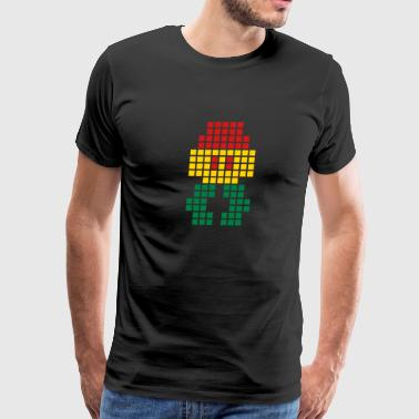 Red Gold Green Jahtari Space Invaderz RED GOLD GREEN - Men's Premium T-Shirt
