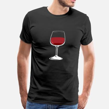 Winery Wineglas Glas of Wine Burgundy Red Wine Drinking - Men's Premium T-Shirt