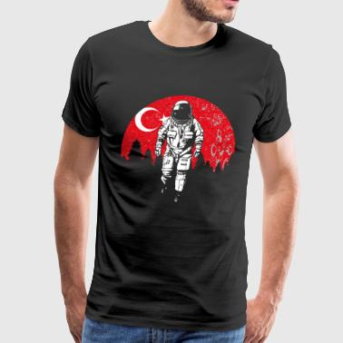 Astronaut moon Turkey flag gift idea - Men's Premium T-Shirt