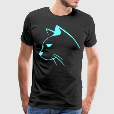 cat animal cat face - Men's Premium T-Shirt