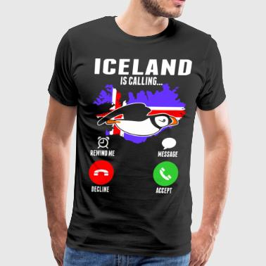 Iceland Is Calling - Men's Premium T-Shirt
