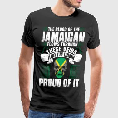 The Blood Of The Jamaican Proud Of It - Men's Premium T-Shirt