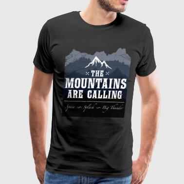 The Mountains Are Calling Space Splash - Men's Premium T-Shirt
