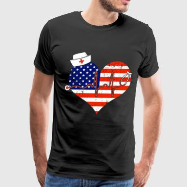 American Nurse - Men's Premium T-Shirt
