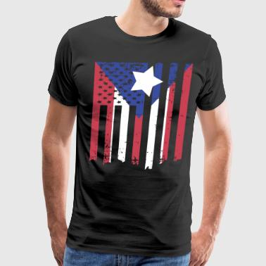 Puerto Rico American Flag Men s Rican Us Usa Pride - Men's Premium T-Shirt