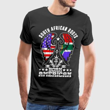 South African Roots Born American - Men's Premium T-Shirt