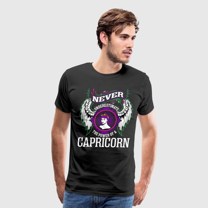 Never Underestimate The Power Of A Capricorn - Men's Premium T-Shirt