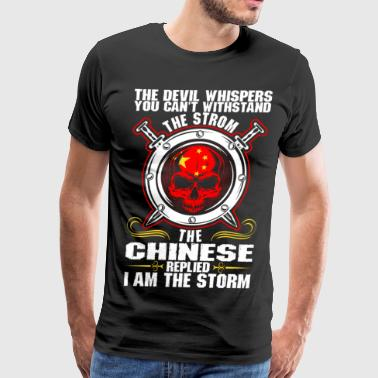 The Devil Whispers You Cant Withstand The Storm Ch - Men's Premium T-Shirt