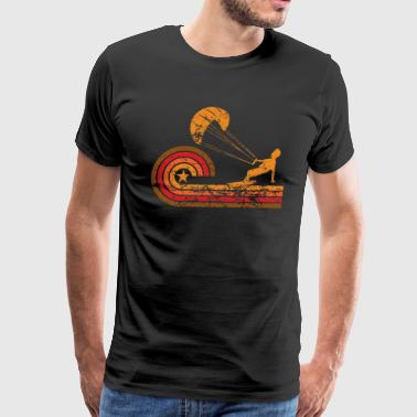 Retro Style Kite Surfer Vintage Kite Surfing - Men's Premium T-Shirt
