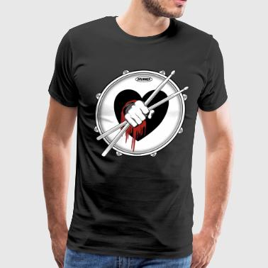 Stick Fist Black Heart - Men's Premium T-Shirt