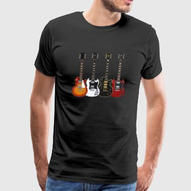 Les Paul Four Electric Guitars - Men's Premium T-Shirt