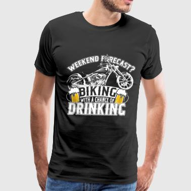 Biking - Biking with a chance of drinking cool tee - Men's Premium T-Shirt