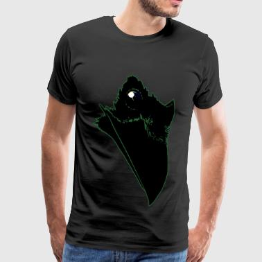 Universe Raven - Green Outlined - Men's Premium T-Shirt