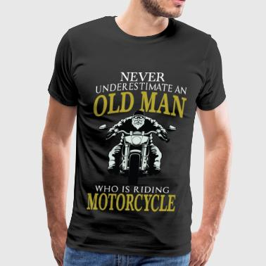 Motorcycle - Old man who is riding motorcycle tee - Men's Premium T-Shirt