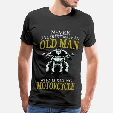 Classic Motorcycle Motorcycle - Old man who is riding motorcycle tee - Men's Premium T-Shirt