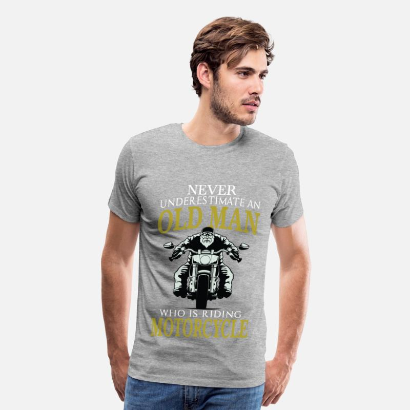 b2f17fdd Motorcycle - Old man who is riding motorcycle tee Men's Premium T-Shirt |  Spreadshirt