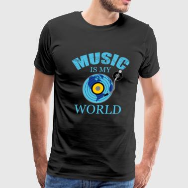 music music music disc - Men's Premium T-Shirt