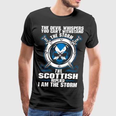 The Devil Whispers You Cant Withstand The Storm Sc - Men's Premium T-Shirt