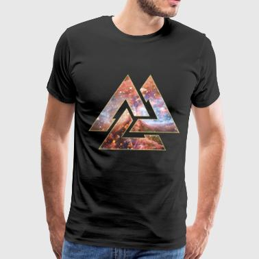 Cosmic Valknut - Men's Premium T-Shirt