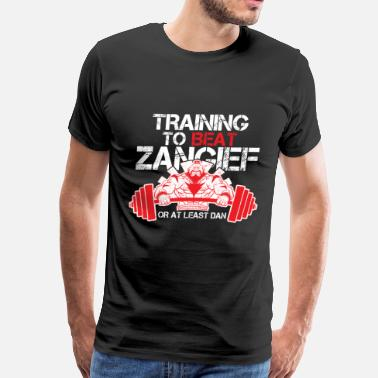 Beat Street Street fighter - Training to beat Zangief - Men's Premium T-Shirt