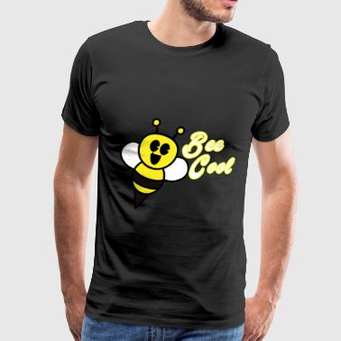 bee cool funny gift with a bee - Men's Premium T-Shirt