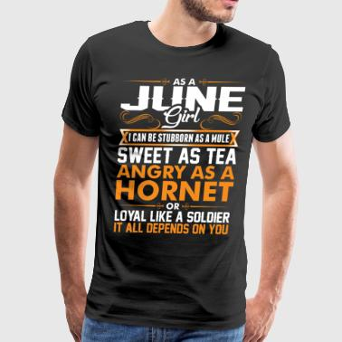 June Girl Sweet As Tea - Men's Premium T-Shirt