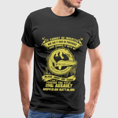 Amphibian 2nd assault - I've earned it with my blood t - shi - Men's Premium T-Shirt