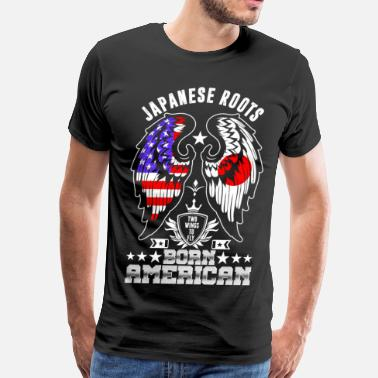 Japanese Roots Japanese Roots Born American - Men's Premium T-Shirt