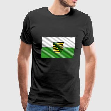 Saxony Flag - Men's Premium T-Shirt