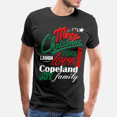 Copeland Merry Christmas Laugh Peace Love Bright Joy Cooper - Men's Premium T-Shirt
