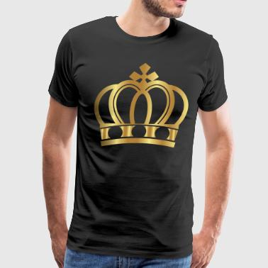 Golden Crown Gold Crowns Lifestyle King Queen Gift - Men's Premium T-Shirt