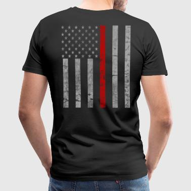 Thin Red Line Thin Red Line Flag - Men's Premium T-Shirt