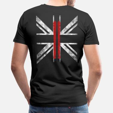 Ski Flag SKIING FLAG (UK) - Men's Premium T-Shirt