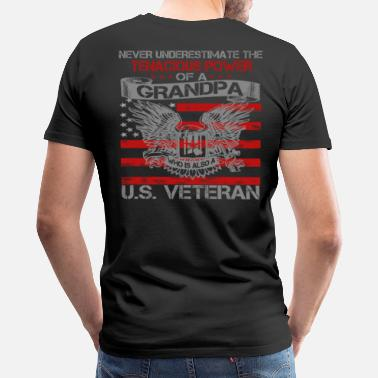 Us Veteran Grandpa US VETERAN GRANDPA - Men's Premium T-Shirt