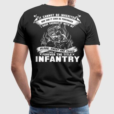 infantry infantry  light infantry parachute infa - Men's Premium T-Shirt