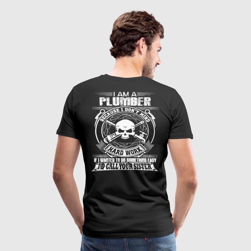 plumber plumber crack cleavage wrench plumber pl - Men's Premium T-Shirt