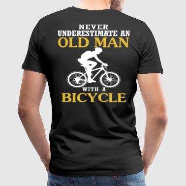 Bicycle Old Man - Men's Premium T-Shirt