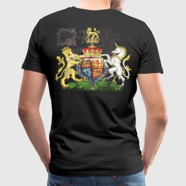 Prince William's Royal Crest Rules Brittania -- Celebrate the Royal Wedding - Men's Premium T-Shirt