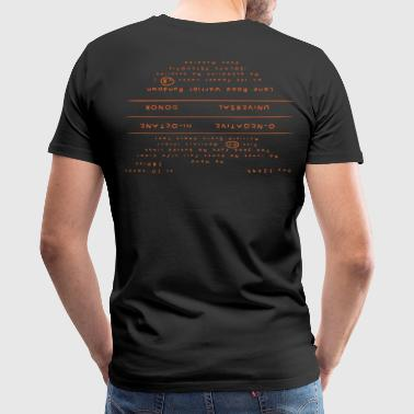 Mad Max Back Tattoo - Men's Premium T-Shirt